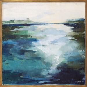 Dwa brzegi - Malwina Cieślik (2018), obraz olejny na płótnie