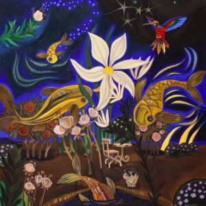 Dream Garden - Michalina Czurakowska (2020), obraz akrylowy na płótnie