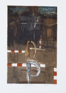 Demiurgos - Tomasz Daniec (1999), akwaforta, akwatinta barwna, miękki werniks, papier
