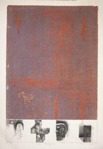 Neue Ordnung (A) - Tomasz Daniec (2002), akwaforta, akwatinta barwna, papier