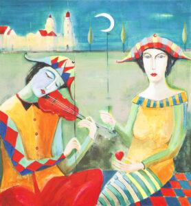 Melodii czar - Mirosław Nowiński (2020), obraz akrylowy na płótnie