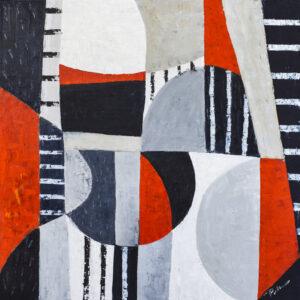 Układ rytmiczny - Paulina Leszczyńska (2020), obraz olejny na płótnie