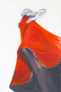 Czerwona sukienka - Agnieszka Słońska-Więcek (2020), obraz akrylowy na płótnie