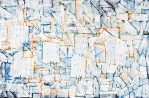 Kto zabił pszczołę̨ - Filip Łoziński (2020), obraz akrylowo-olejny na płótnie