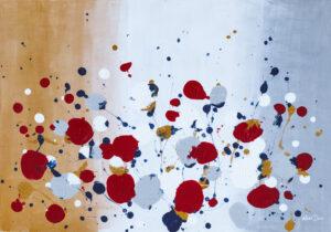 Maki - Marta Dunal (2020), akryl, płyta