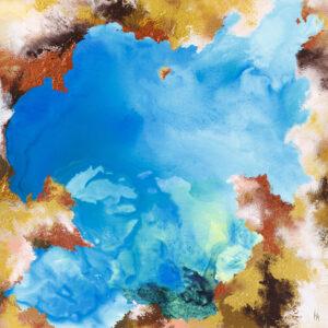 The Earth IV - Khrystyna Hladka (2019), obraz akrylowy na płótnie