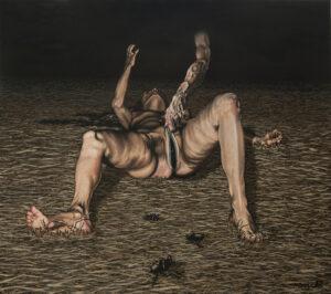 Zwiastun - Michał Borucki (2017), obraz olejny na płótnie