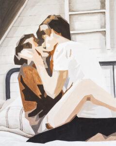 Poddachowcy - Dorota Kwiatkowska (2020), obraz akrylowy na płótnie