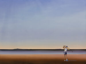 Bezpieczny kierunek gry - Katarzyna Środowska (2020), obraz olejny na płótnie
