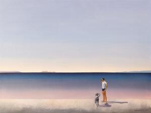 Wypatrując właściwych decyzji - Katarzyna Środowska (2020), obraz olejny na płótnie