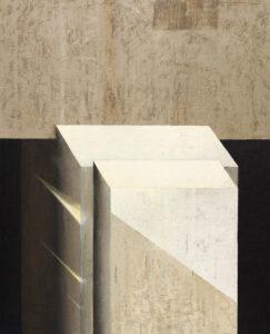 Z cyklu Na krawędzi światła 0422 - Ewa Zawadzka (2020), obraz na płótnie wykonany techniką własną