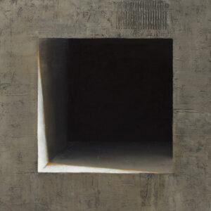 Z cyklu Opowieści pejzażu 0319 - Ewa Zawadzka (2020), obraz na płótnie wykonany techniką własną