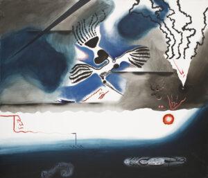 Dying heron (Gdynia) - Kacper Woźny (2019), obraz olejny na płótnie