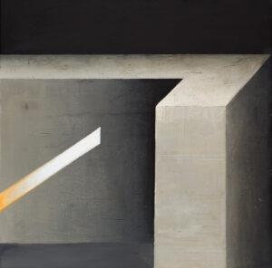 Z cyklu Opowieści pejzażu 0321 - Ewa Zawadzka (2020), obraz na płótnie wykonany techniką własną