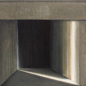 Z cyklu Opowieści pejzażu 0322 - Ewa Zawadzka (2020), obraz na płótnie wykonany techniką własną