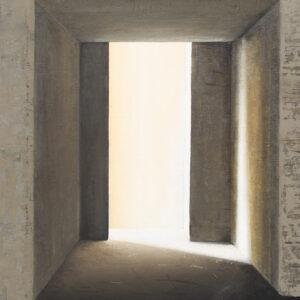 Z cyklu Na krawędzi światła 0417 - Ewa Zawadzka (2020), obraz na płótnie wykonany techniką własną