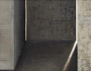 Z cyklu Opowieści pejzażu 022 - Ewa Zawadzka (2020), obraz na płótnie wykonany techniką własną