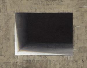 Z cyklu Opowieści pejzażu 024 - Ewa Zawadzka (2020), obraz na płótnie wykonany techniką własną