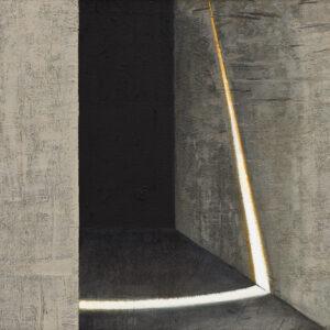 Z cyklu Opowieści pejzażu 018 - Ewa Zawadzka (2020), obraz na płótnie wykonany techniką własną