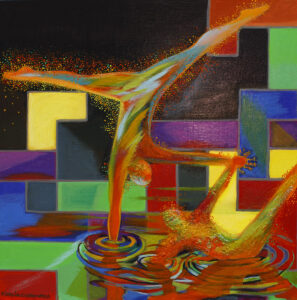 Immersion - Michalina Czurakowska (2020), obraz akrylowy na płótnie