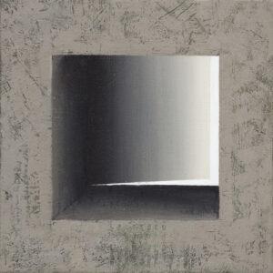 Nokturn 04 - Ewa Zawadzka (2020), obraz na płótnie wykonany techniką własną