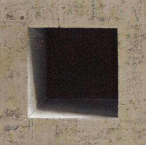 Nokturn 05 - Ewa Zawadzka (2020), obraz na płótnie wykonany techniką własną