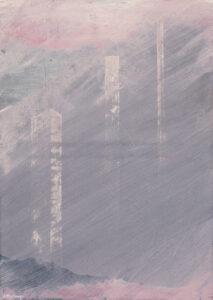Remains - Bernard Pietraga (2020), obraz akrylowy na płótnie