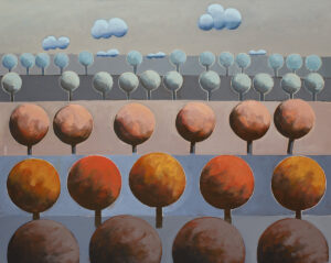 Terra X - Jakub Szymański (2020), obraz akrylowy na płótnie