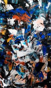 Shattered glass - Paulina Ledzion (2019), obraz akrylowy na płótnie