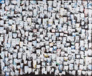 Bezpieczna dzielnica - Filip Łoziński (2020), obraz olejno-akrylowy na płótnie