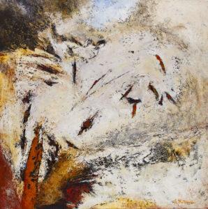 Z cyklu Kosmiczne płótna – P-36 - Adam Piotr Rutkowski (2020), obraz olejny na płótnie