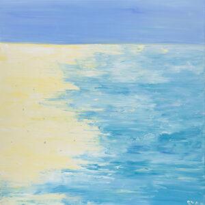 Summer landscape - Yuliya Stratovich (2020), obraz akrylowy na płótnie