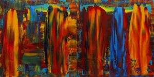 1335 Manibi (dyptyk) - Dominik Smolik (2020), obraz akrylowy na płótnie
