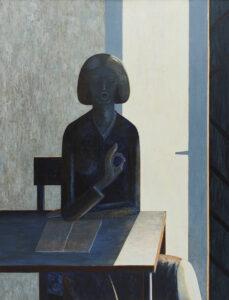 Samogłoska - Andrzej Tobis (2003), obraz olejno-akrylowy na płótnie