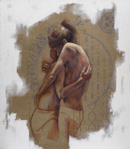 Siostry - Angelika Korzeniowska (2017), obraz olejny na płótnie