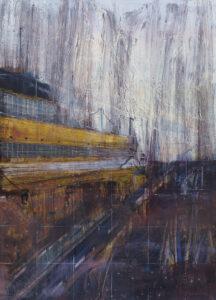 W porcie ulewa - Maciej Kempiński (2020), obraz akrylowy na płótnie