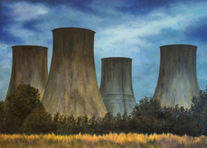 Chłodnie kominowe - Jagoda Malinowska (2020), obraz olejny na płótnie