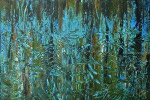 Zapach Orientu - Izabela Drzewiecka (2020), obraz akrylowy na płótnie
