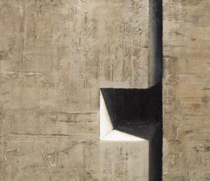 Z cyklu Materia ciszy 0419 - Ewa Zawadzka (2020), obraz na płótnie wykonany techniką własną