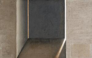 Z cyklu Na krawędzi światła 0423 - Ewa Zawadzka (2020), obraz na płótnie wykonany techniką własną