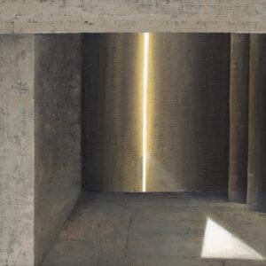 Z cyklu Na krawędzi światła 0316 - Ewa Zawadzka (2020), obraz na płótnie wykonany techniką własną