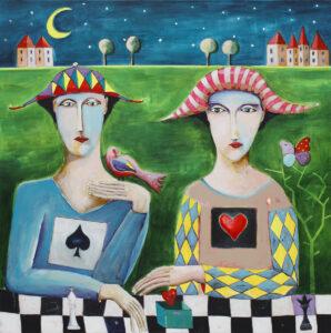 Desire for love - Mirosław Nowiński (2020), obraz akrylowy na płótnie