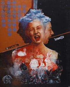 Istnieje to, co widzę - Angelika Korzeniowska (2020), obraz olejny na płótnie