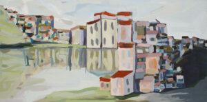 Cinque Terre - Magdalena Mędzkiewicz (2018), obraz akrylowy na płótnie