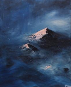 Mountains - Yuliya Stratovich (2020), obraz akrylowy na płótnie