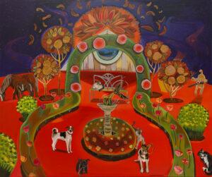 Autumn square - Michalina Czurakowska (2020), obraz akrylowy na płótnie