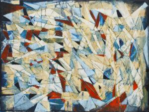 Sytuacja zagubienia - Filip Łoziński (2020), obraz olejno-akrylowy na płótnie