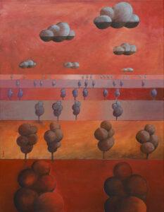 Terra XX - Jakub Szymański (2020), obraz akrylowy na płótnie