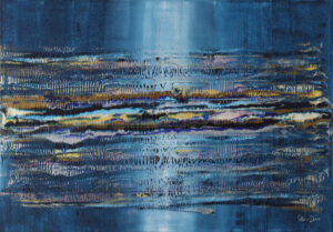 Struktura 5 - Marta Dunal (2020), obraz akrylowy na płótnie