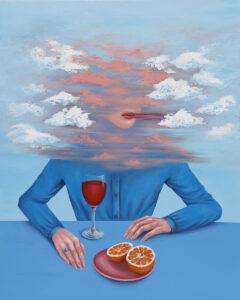 Rozmyta rzeczywistość - Aneta Biel (2020), obraz akrylowy na płótnie